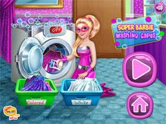 Барби стирает вещи