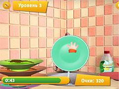 Барбоскины учат мыть посуду