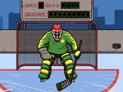 Хоккей ловкий вратарь