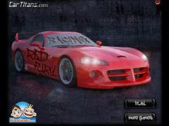 Красная машина гонки