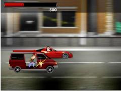 Красная машина убегает