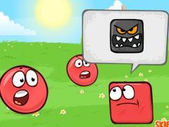 Красный шар против квадрата
