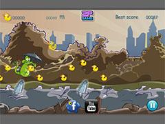 Крокодильчик Свомпи охота за уточками