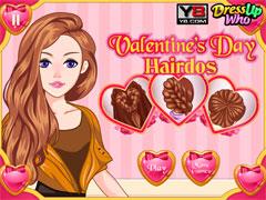 Прически на день Святого Валентина