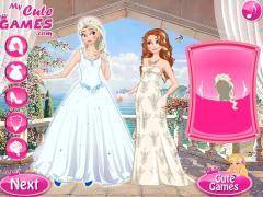 Эльза и Анна принцессы Диснея