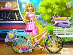 Рапунцель на велосипеде