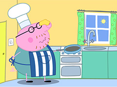Свинка Пеппа готовит блины