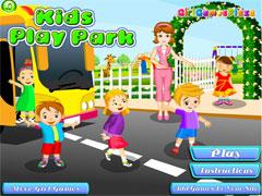 Уход за малышами в парке